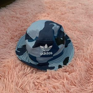 Adidas Blue Camo Bucket Hat